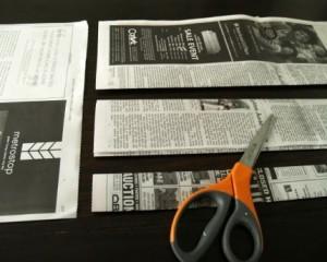 Como Fazer uma Cesta Retangular de Jornal 3