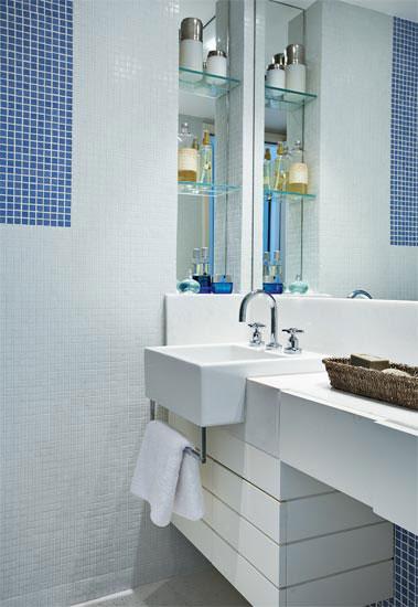 Decoração de Banheiros Pequenos -> Decoracao Em Banheiro Pequeno