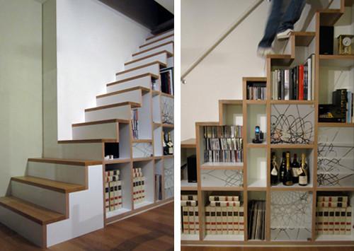 Decorar embaixo da escada for Escaleras cocinas pequenas