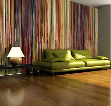 Tecidos na decoração da parede