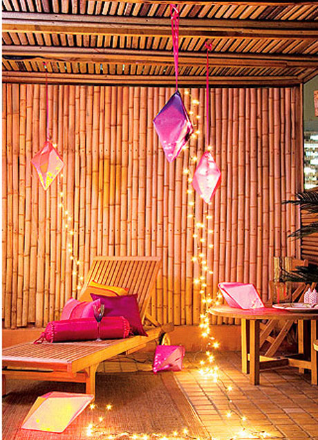 Decoração com bambu 2