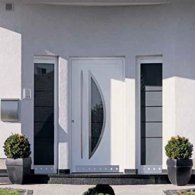 Decorar porta principal for Puerta entrada aluminio