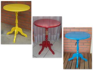 Mesas de apoio Coloridas 4
