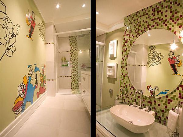 Banheiro para as crianças -> Decorar Banheiro Infantil