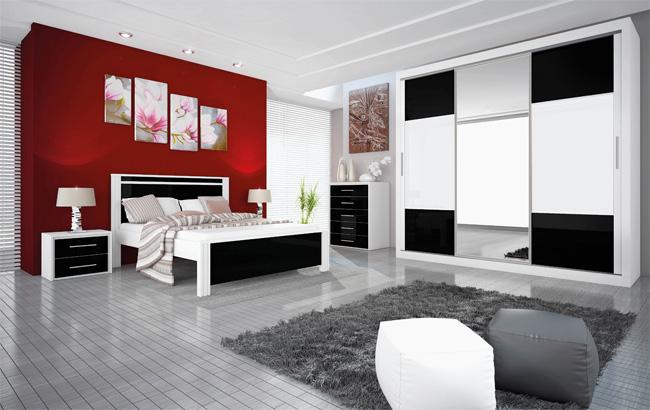 Branco e bordô na decoração ~ Quarto Casal Branco E Preto