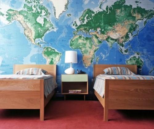 Mapa na parede para decorar 2