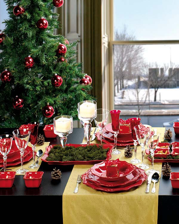 Decoração de mesa de Natal 2
