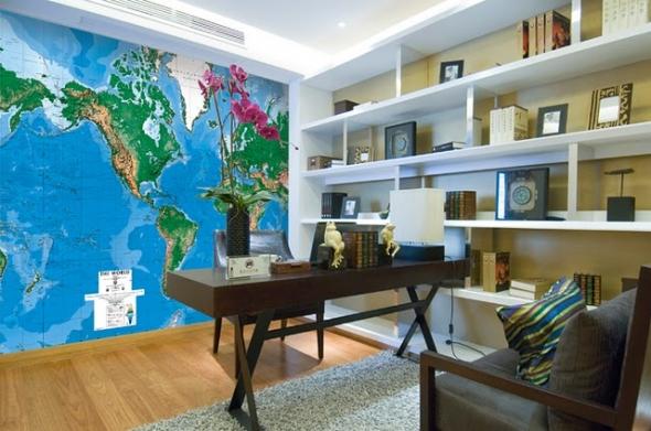 Mapa na parede para decorar 5