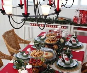 Decoração da mesa de Natal 2