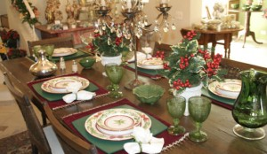 Decoração da mesa de Natal 6