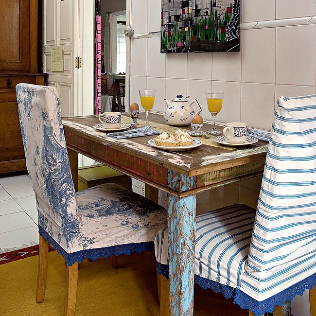 Cadeiras diferentes na cozinha