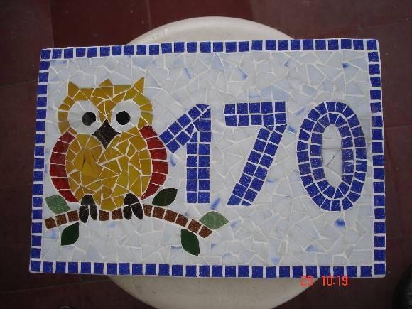 Número para casa em mosaico 4