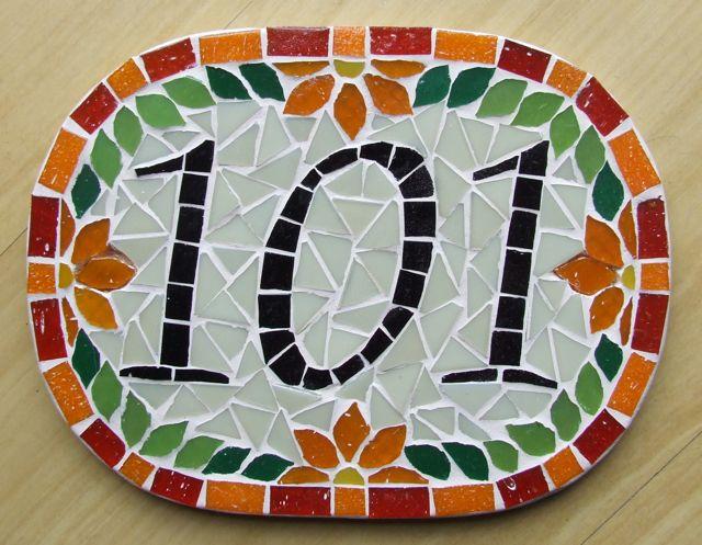 Número para casa em mosaico 5