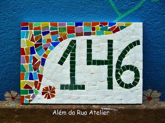 Número para casa em mosaico 6