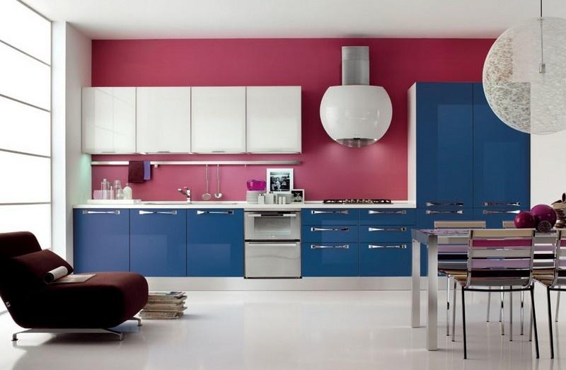 Cozinhas coloridas e estampadas 6