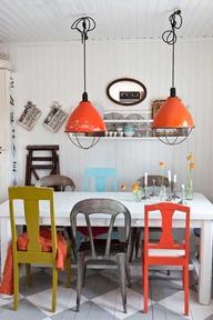Cadeiras diferentes na cozinha 8