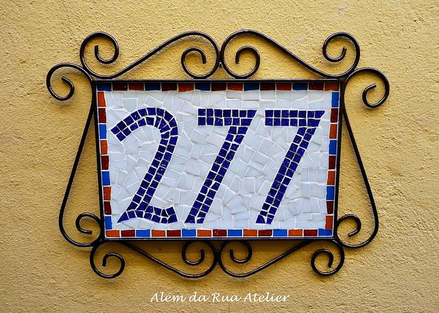 Número para casa em mosaico