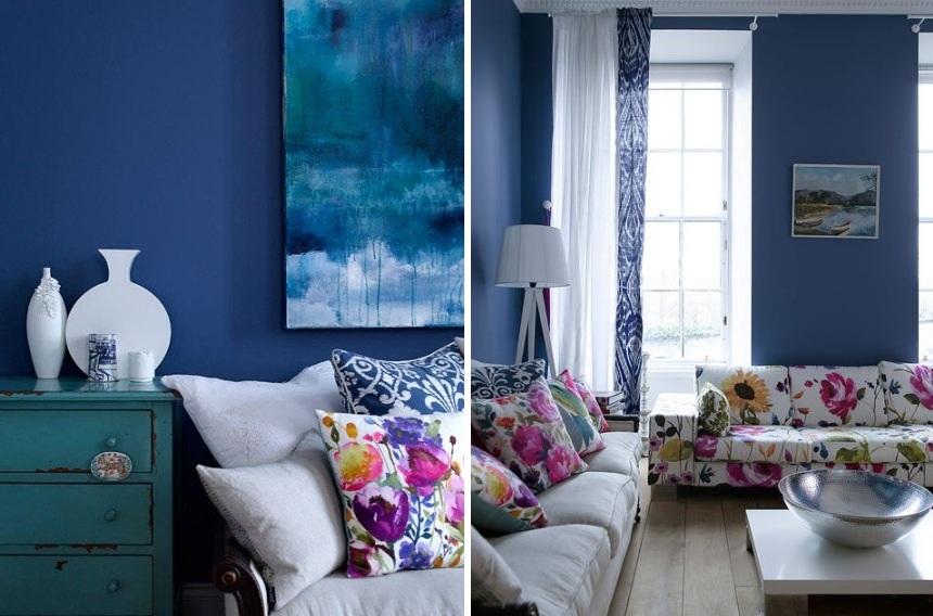 Azul Mônaco na decoração