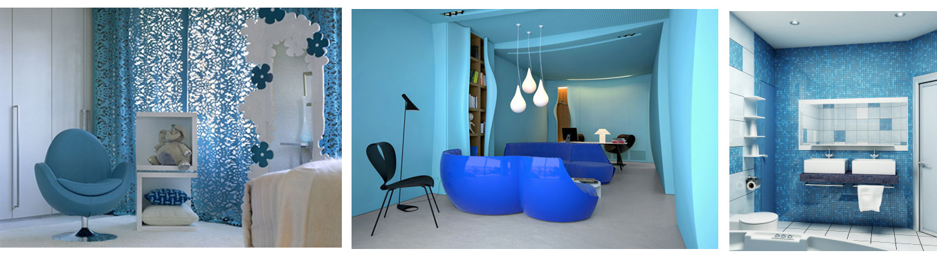 Decorar com azul