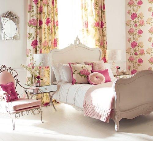 decoracao de interiores estilo romântico : decoracao de interiores estilo romântico:Floral Bedroom Design