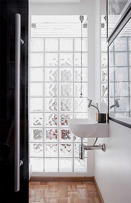 Decorar com tijolos de vidro 2