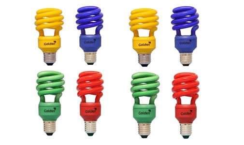 Luzes Coloridas na decoração