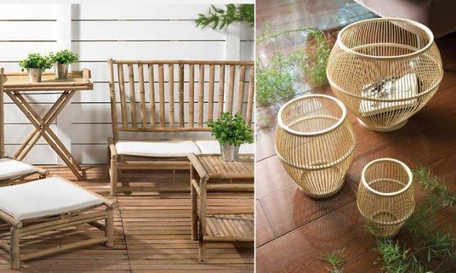 Objetos de bambu na decoração 2