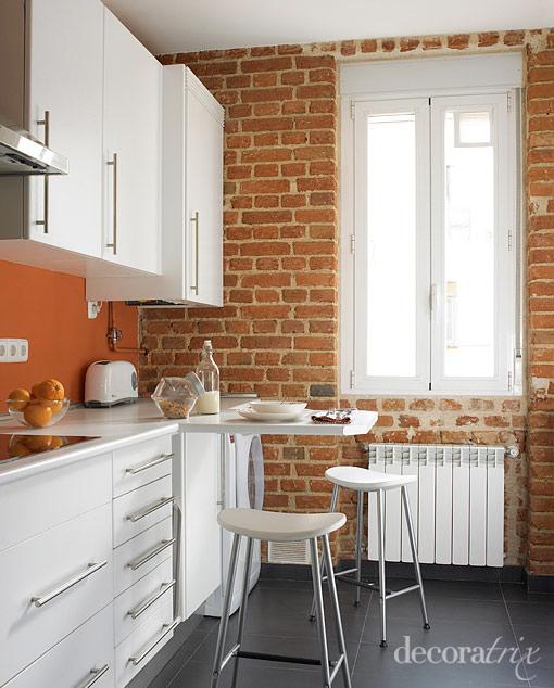 Decorar cozinha pequena - Cocina de ladrillo ...