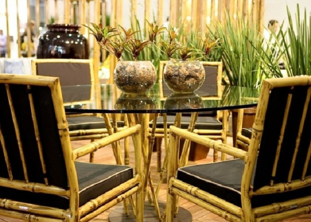 Objetos de bambu na decoração 4