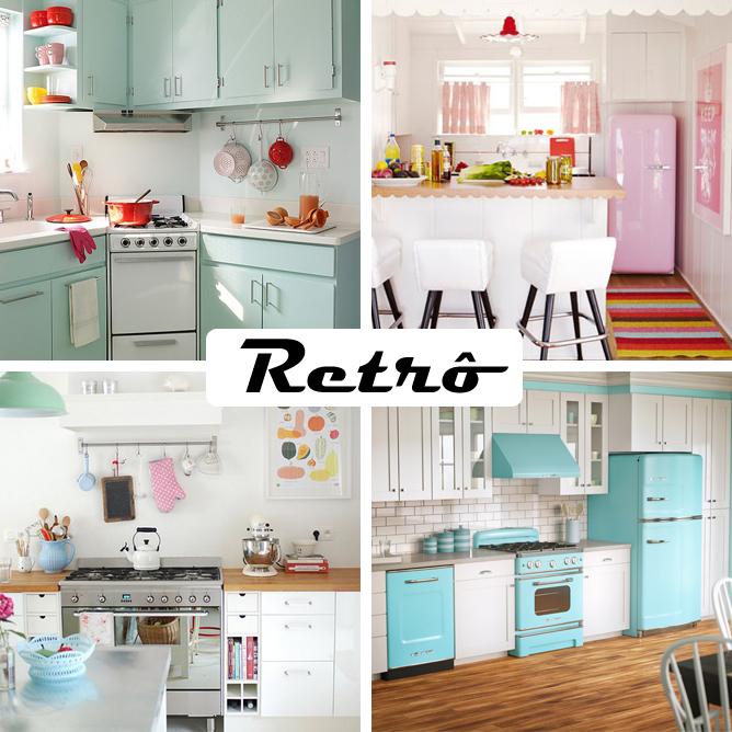 decoracao para cozinha vintage:COZINHA RETRÔ