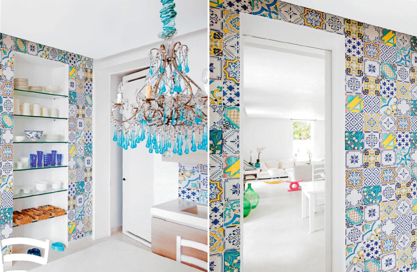 Azulejos antigos #2595A6 1366x894 Banheiro Com Azulejo E Papel De Parede