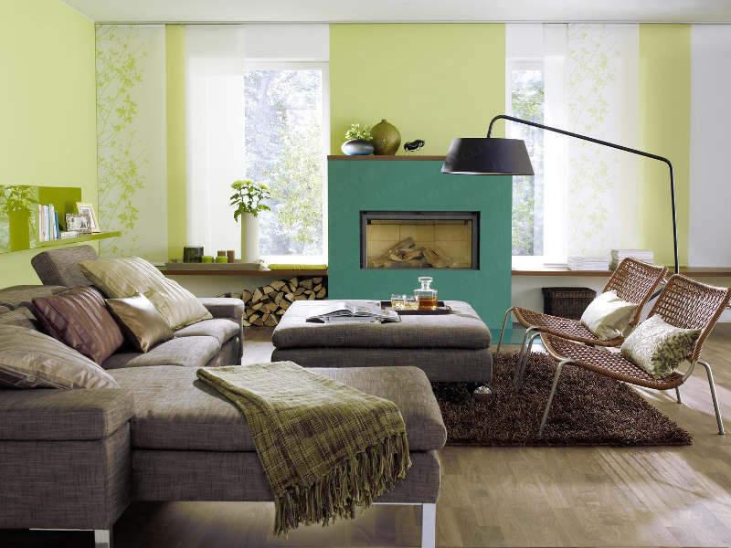 Spomis.com | Wohnzimmer Wandgestaltung Grün Wohnzimmer In Grun Und Braun
