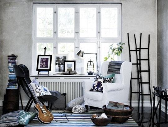 Listras preto e branco na decoração 4