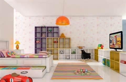 Cubos coloridos na decoração 4