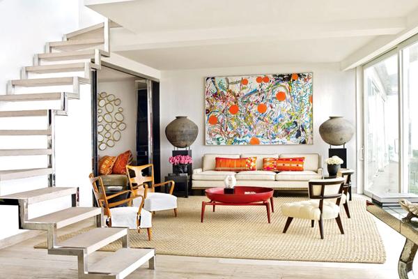 decoração com tapete