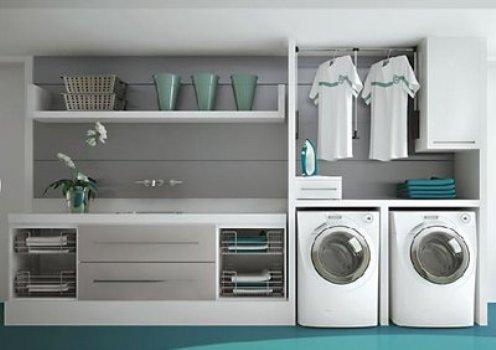 Decorar lavanderia pequena