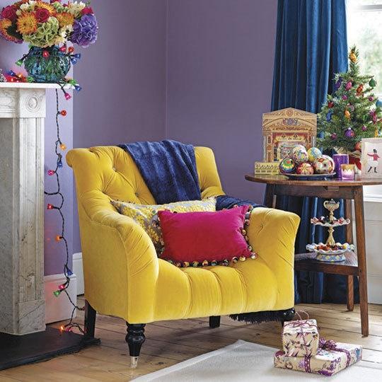 Amarelo e roxo na decoração 3
