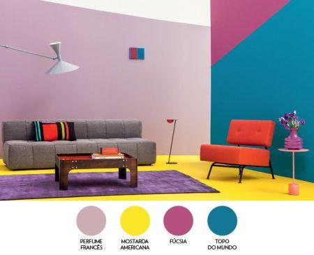 Paleta de cores na decoração