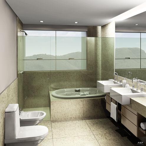 Banheira no banheiro 3