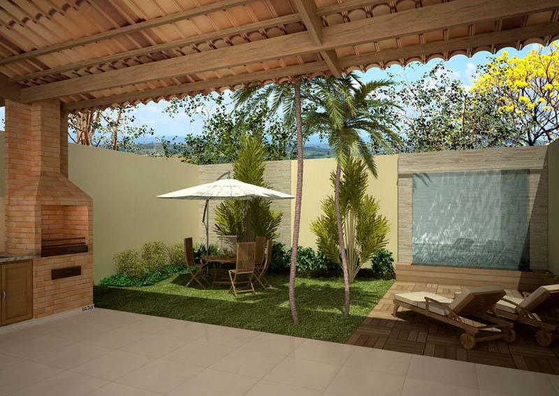 jardins quintal pequeno:Quintal De Casa