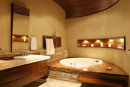 Banheira no banheiro 5