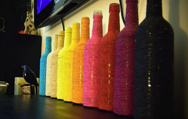 Decoração com fios de lã 3