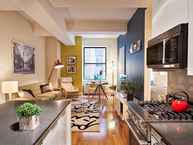 Apartamentos pequenos decorados 3
