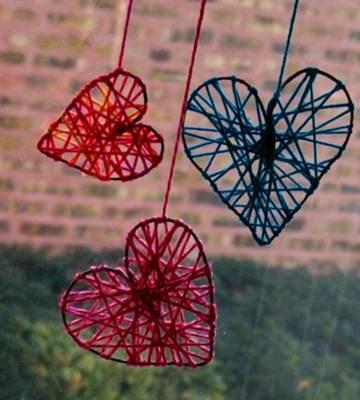 Decoração com fios de lã 5