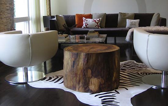 troncos de madeira na decoração 7