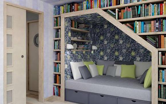 Decorar biblioteca em casa 8