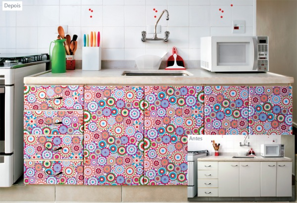 Papel de parede nos móveis 5