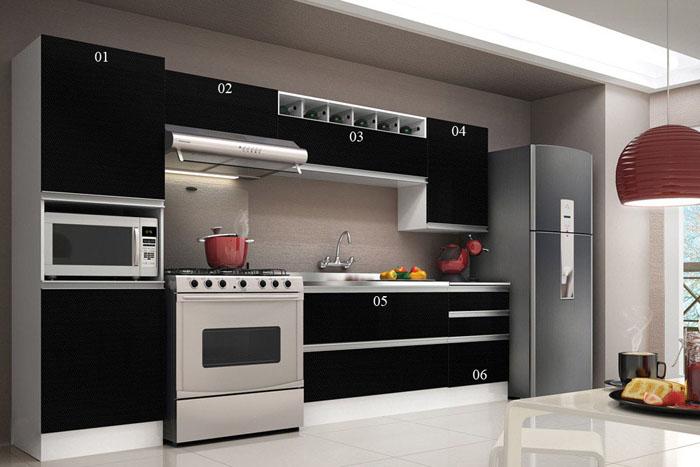 Cozinha em preto 7