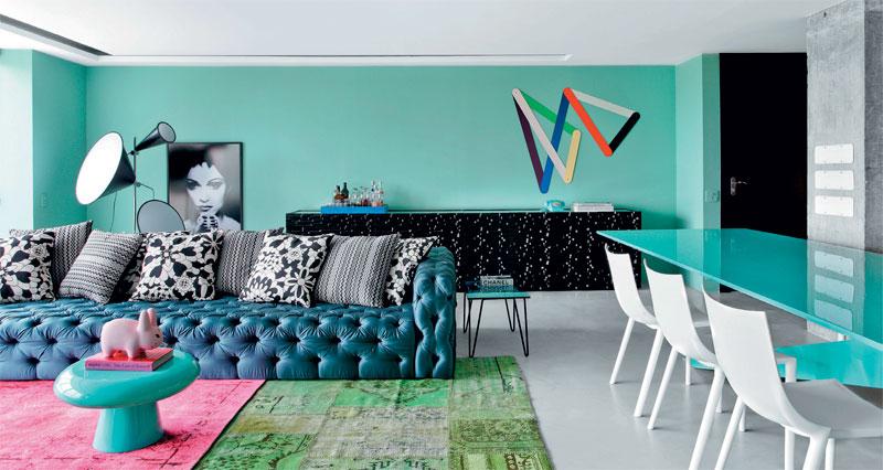 Inspiração de cores para sala de estar 3