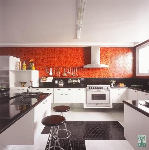 Pastilhas na cozinha